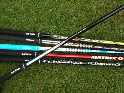 土曜日のゴルフは6種類のシャフトをテスト!